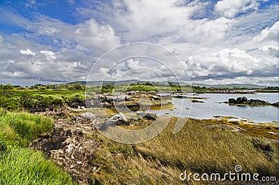 Wild lake landscape in Connemara