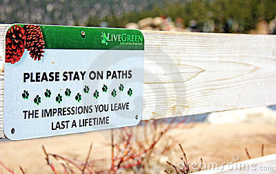 Wild Life Preservation Sign Editorial Photo