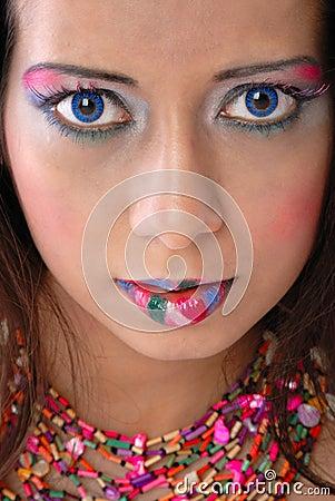 Free Wild Makeup Royalty Free Stock Photo - 4745995