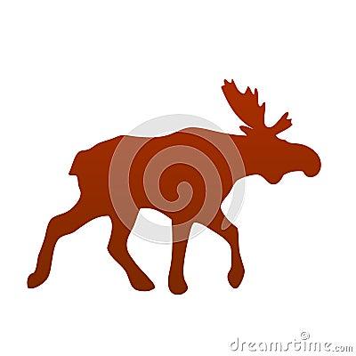 Wild moose silhouette