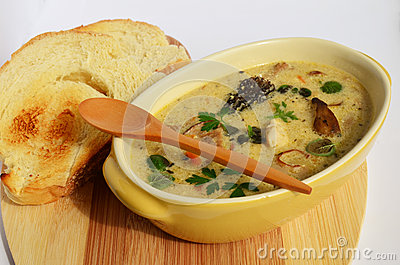 Wild mushrooms cream soup 5