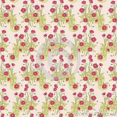 Wild poppy pattern