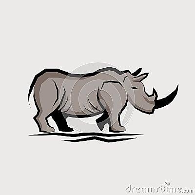 Wild Rhino Vector