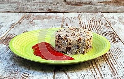 Wild rice with tomato