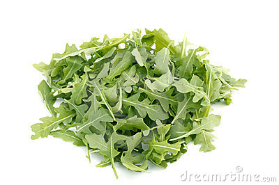 Wild Rocket Isolated On A White backgrou