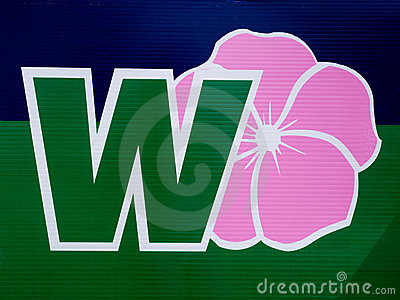 Wild Rose party sign Editorial Image