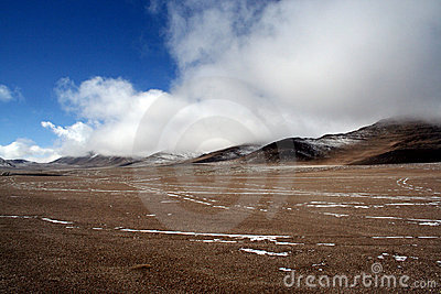 Wild scene of highland moutain pamirs tibet