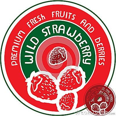 Wild strawberry label