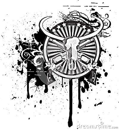 Wild West black & white