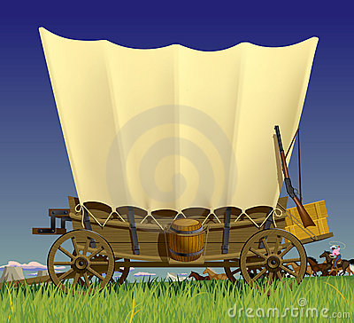 Free Wild West Covered Wagon Royalty Free Stock Image - 20033126