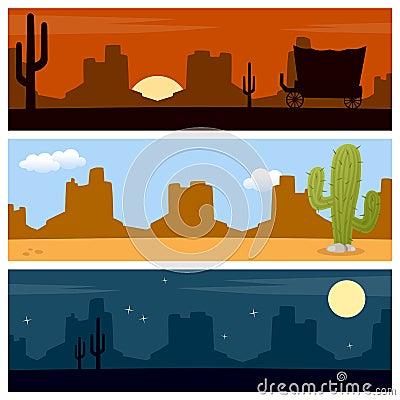 Wild West Desert Banners