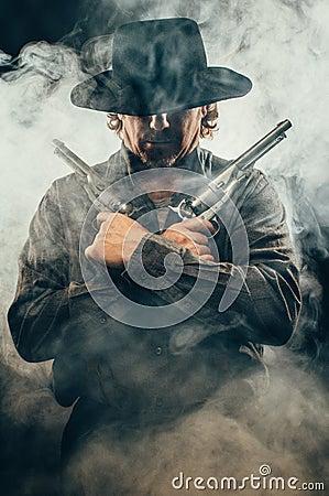 Free Wild West Gunslinger Royalty Free Stock Photo - 42450315