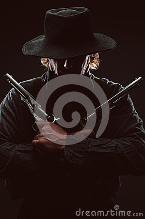 Free Wild West Gunslinger Stock Images - 42450324