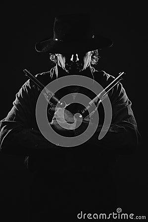 Free Wild West Gunslinger Royalty Free Stock Image - 42450326