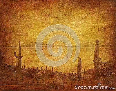 Wild west landscape