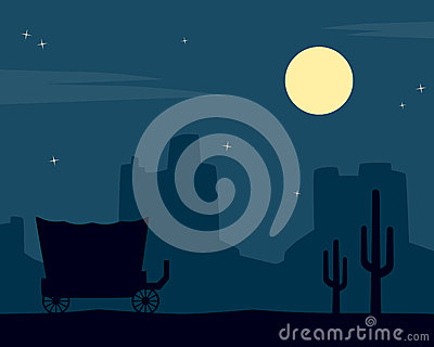 Wild West Night Background