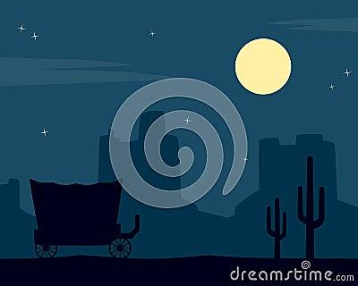 Wild West Night Background