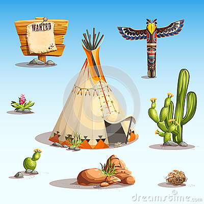 Free Wild West Set Stock Images - 52058164