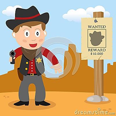 Wild West Sheriff with Handgun