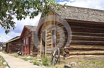 Wild west town buildings