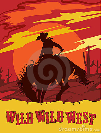 Wild west vector illustration
