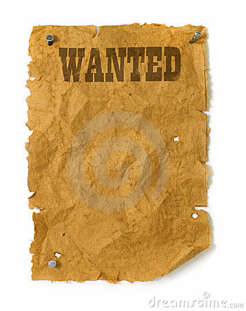 Free Wild West Wanted Poster Stock Photos - 18016763