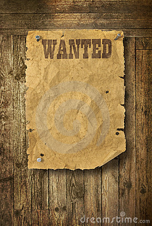 Free Wild West Wanted Poster Stock Photos - 22263373