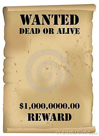 Western on Wild West Wanted Poster  Fully Scalable Vector Illustration With Blank
