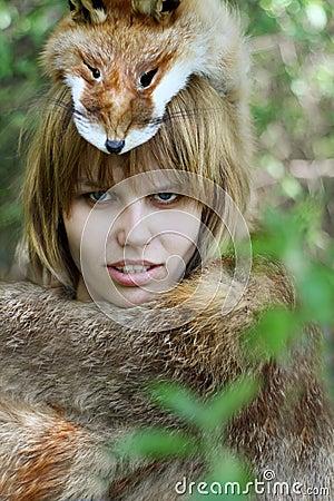 Wild woman, female