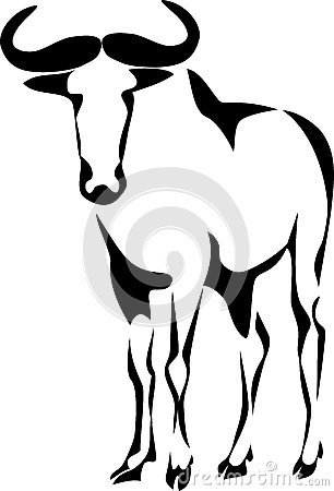 Black Wildebeest Stock Illustrations – 52 Black Wildebeest Stock ...