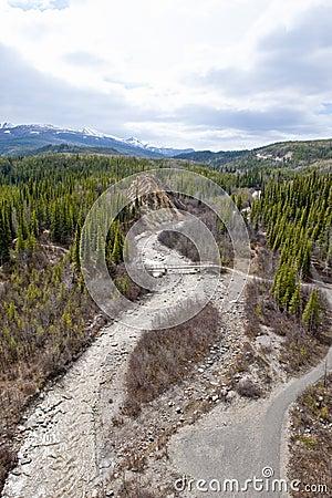 Wilderness riverbed