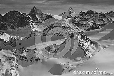 Wilderness skiing and the Matterhorn