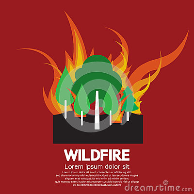 Wildfire Disaster Vector Illustration