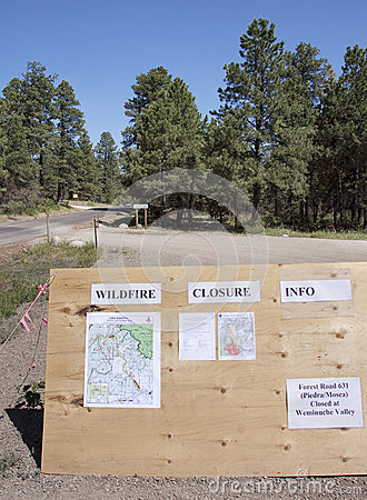 Wildfire information Editorial Image