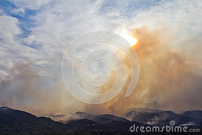 Wildfire Smoke Rises Into The Sky