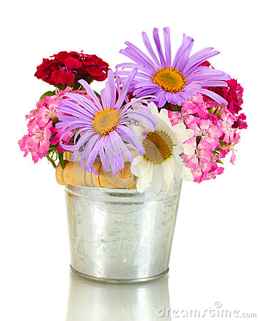 Free Wildflowers In Bucket, Stock Images - 25830944