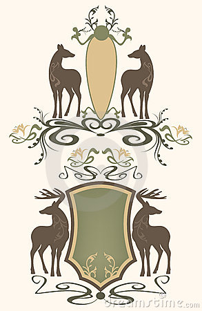 Wildlife emblems vector