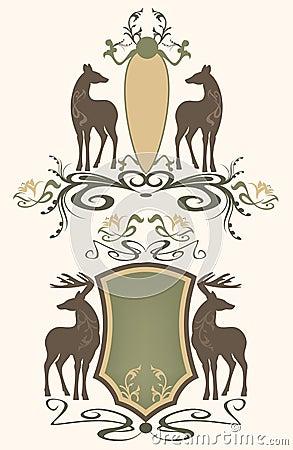 Wildlife emblems vector
