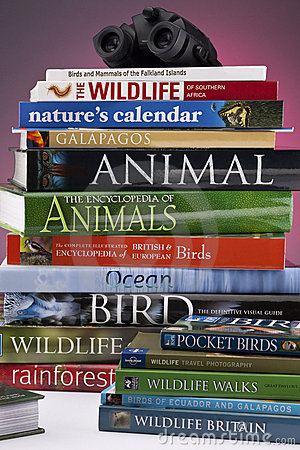 Wildlife & Nature Books Editorial Stock Photo