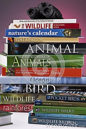 Wildlife & Nature Books Editorial Stock Photo