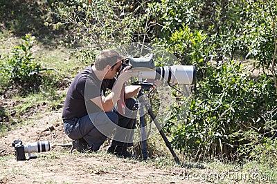 Wildlife photographer Editorial Image