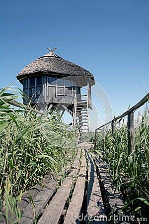 Wildlife sanctuary observation house