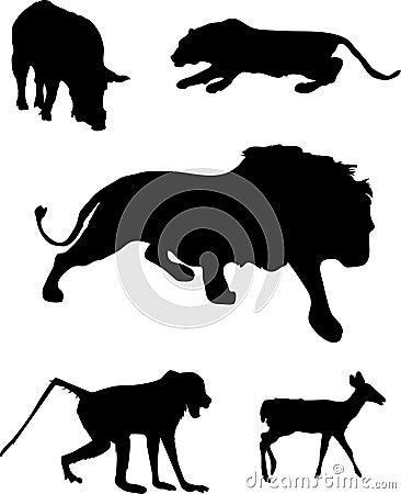 Wildlife silhouettes.