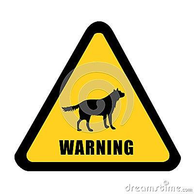 Wildlife warning yellow signal