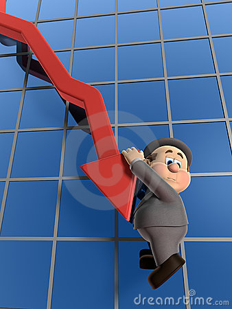Free Wilfred Declining Graph Stock Images - 7591864