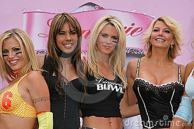 Willa Ford, Tamie Sheffield, Amber Smith, Ryan Starr, Jenny Mccarthy, Adrienne Curry Editorial Stock Image