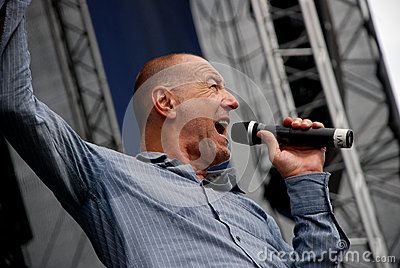 Willi Resetarits performs in Linz Editorial Stock Image