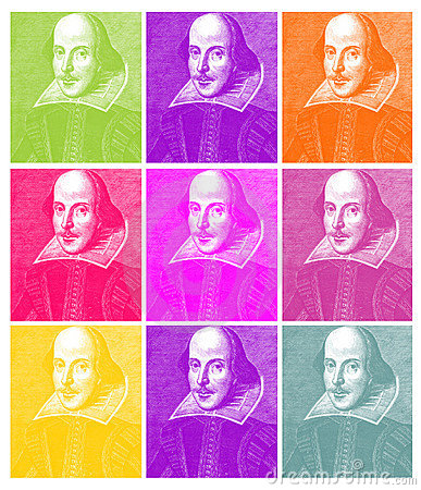 William Shakespeare Engraving Editorial Image