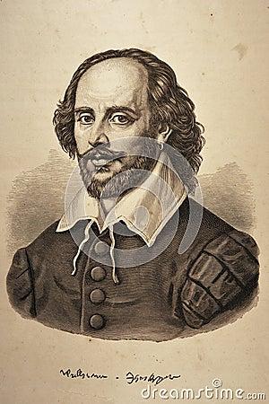 William Shakespeare Portrait Editorial Image