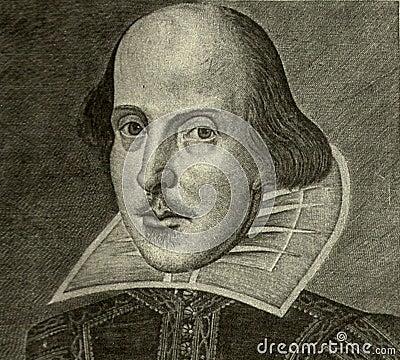 William Shakespeare portrait Editorial Photo